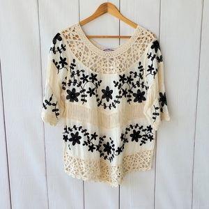 Oliver cotton croshet embroidered top